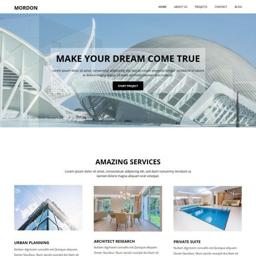Mordon Architect HTML Template