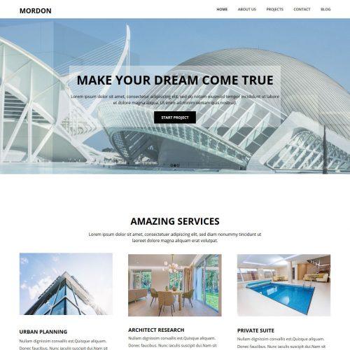 Mordon Architect WordPress Theme