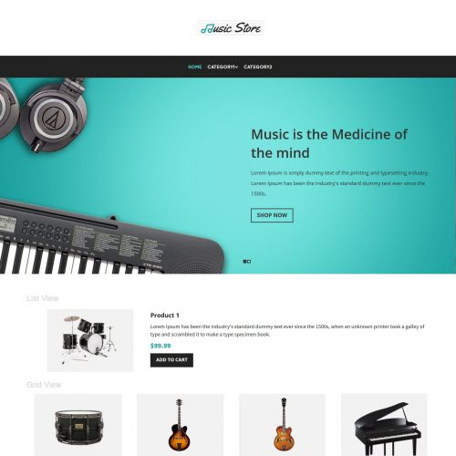 Music Instruments Store virtuemart template