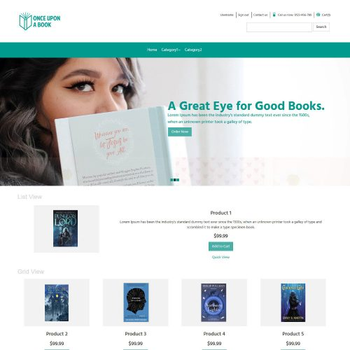 Once Upon a Book Online Book Store Virtuemart Template