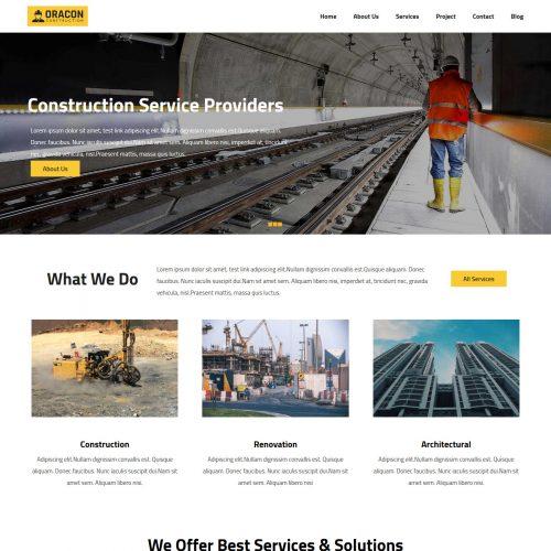 Oracon Construction Company Drupal Theme