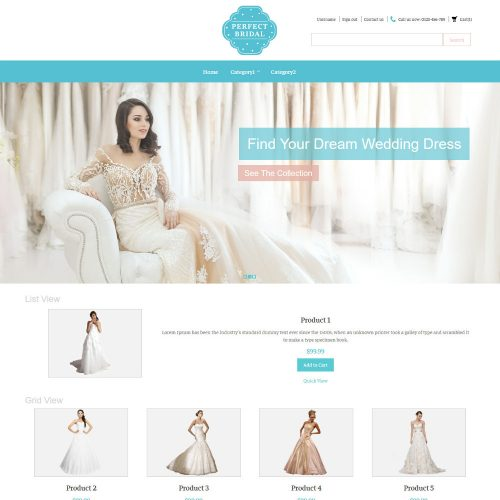 Perfect Bridal Wedding Dresses Virtuemart Template