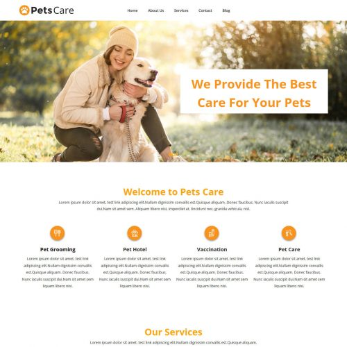 Pets Care Grooming WordPress Theme