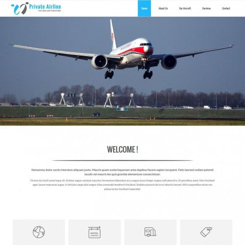 Private Airline Services Drupal Theme