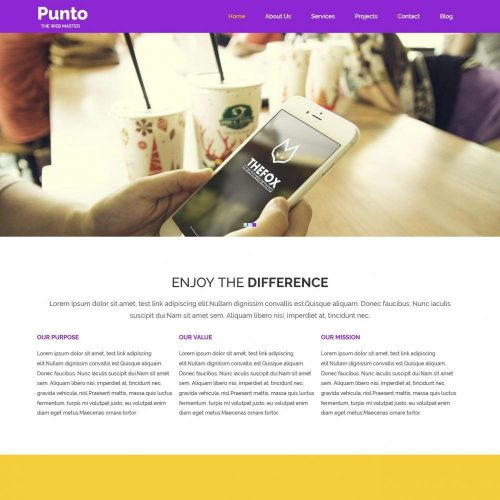 Punto – WebApp Development Drupal Theme
