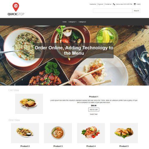 Quick Stop Online Restaurant OpenCart Theme