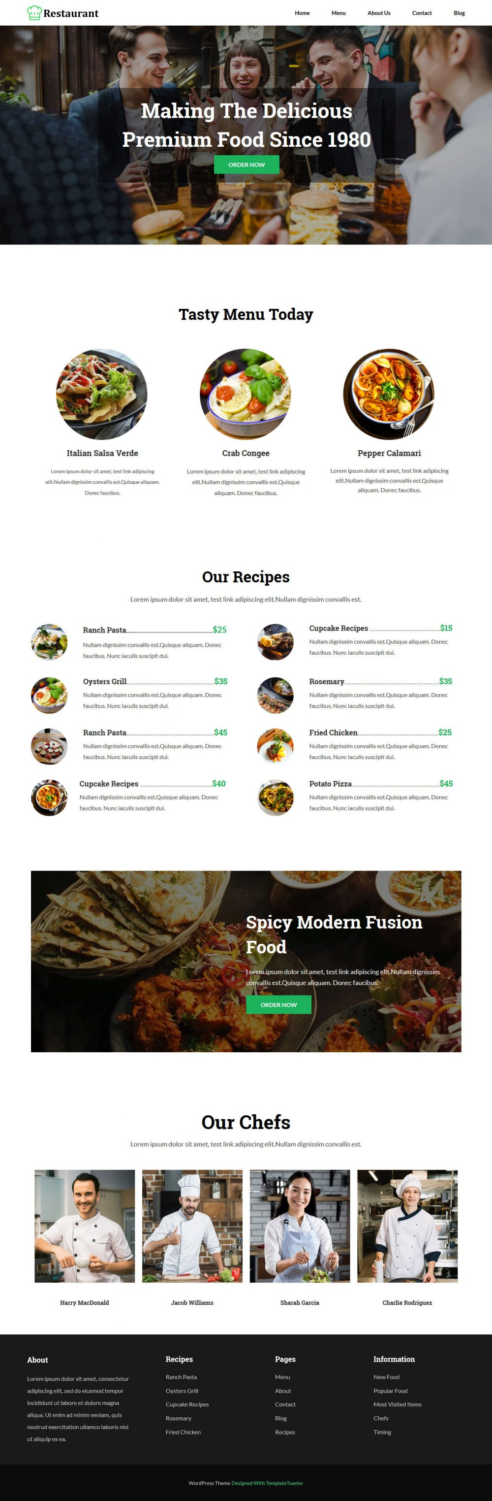Restaurant Blogger Template