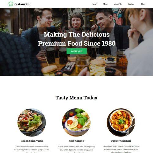 Restaurant Blogger Template
