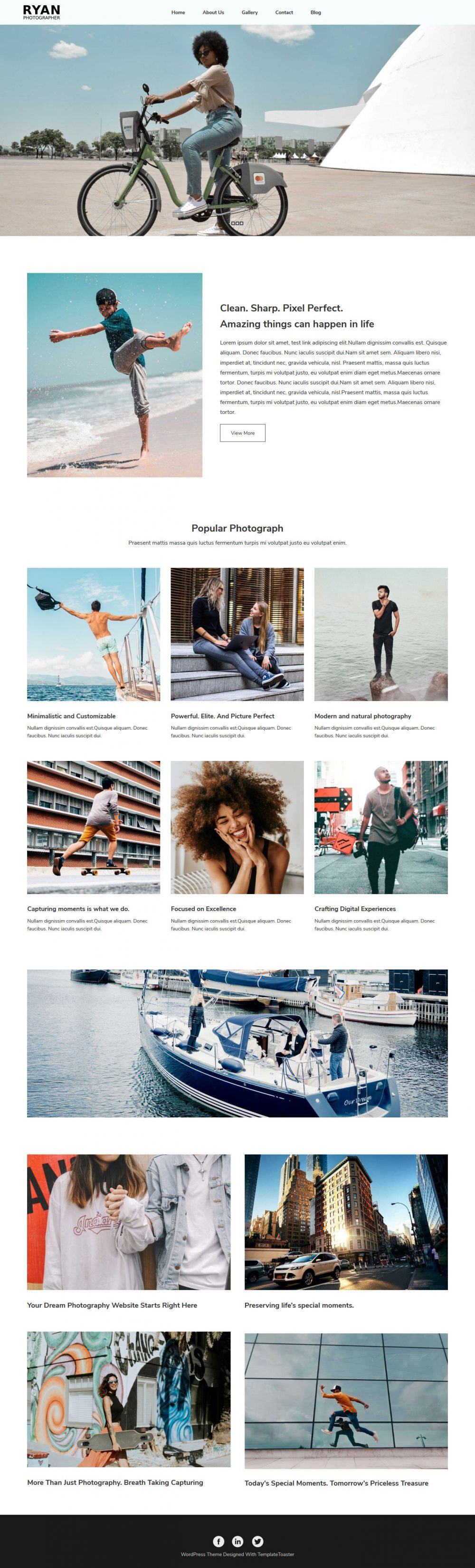 Ryan Photographer Blogger Template