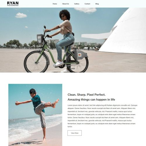 Ryan Photographer WordPress Theme