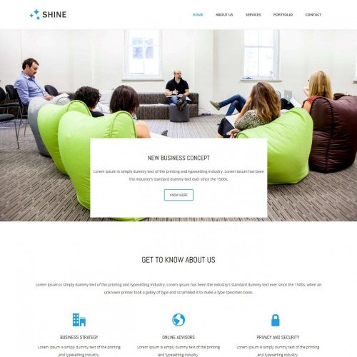 Shine Business Advisor HTML Template