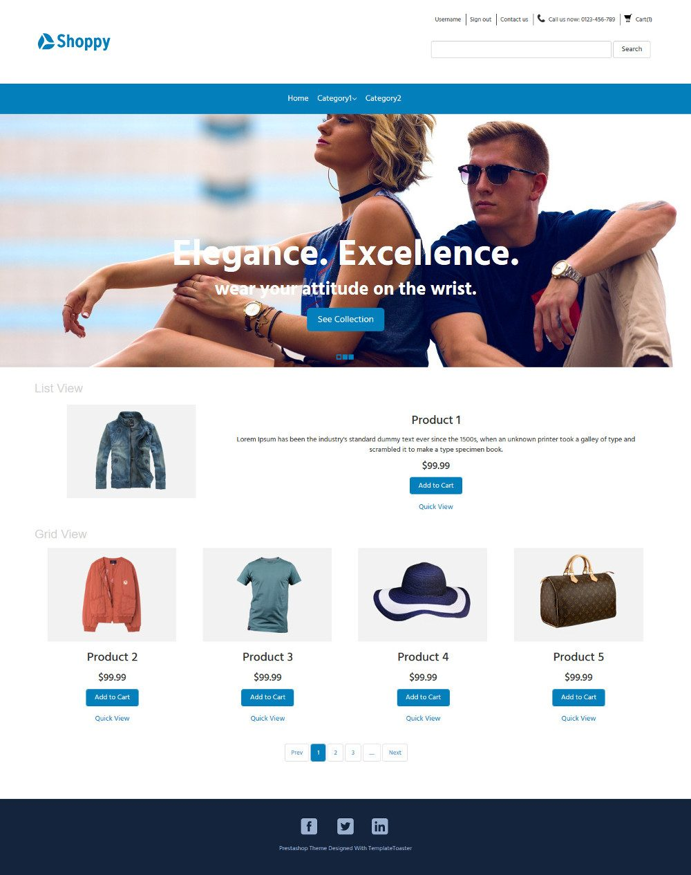 Shoppy Fashion Clothes and Accessories OpenCart Theme