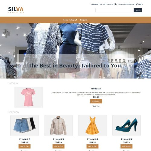 Silva Clothing Store OpenCart Theme