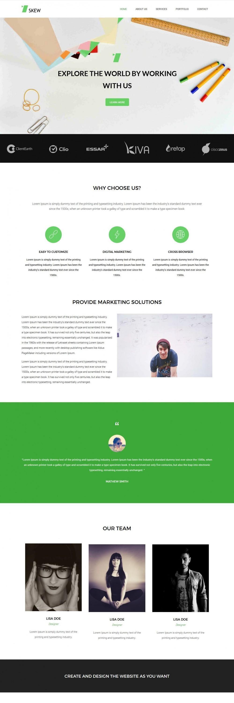 Skew Web Design Agency HTML Template