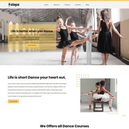 Steps Dance School HTML Template