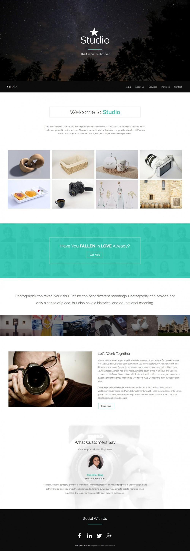 Studio Photography HTML Template