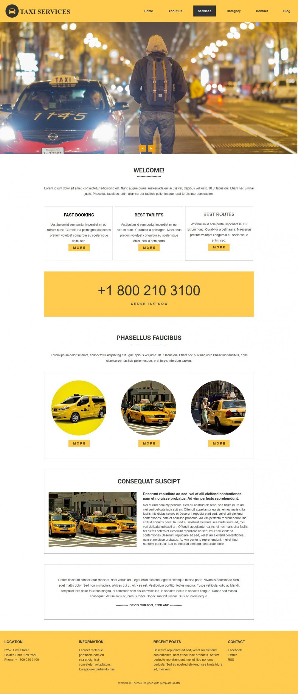 Taxi - Service Html Template