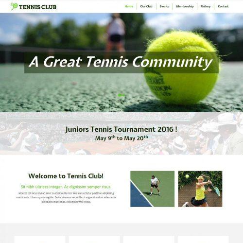 Tennis Club HTML Template