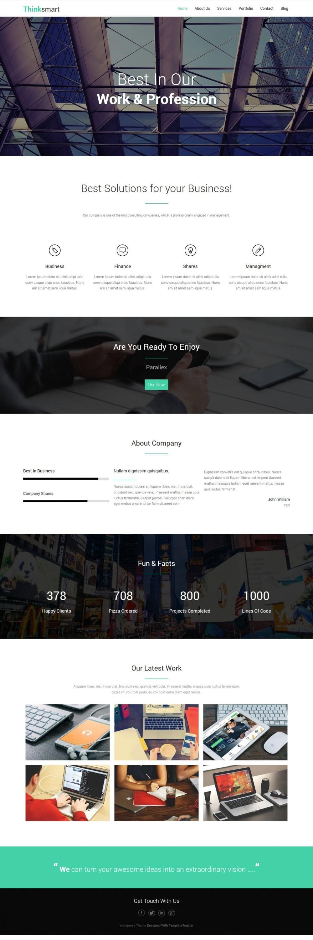 Thinksmart – Business Solutions Drupal Theme