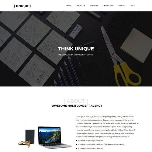 Unique Web Design Agency Drupal Theme