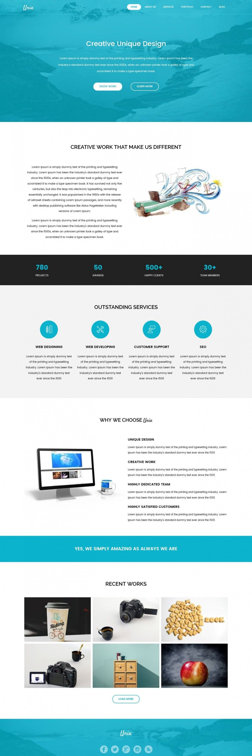 Unix Web Design Agency HTML Template