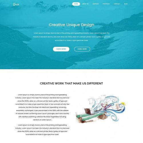 Unix Web Design Agency HTML Template