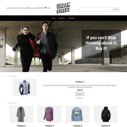 Urban Street Clothing Store OpenCart Theme