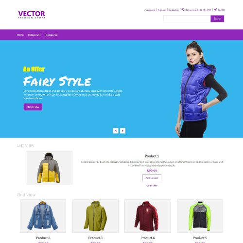 Vector Fashion Accesories OpenCart Theme