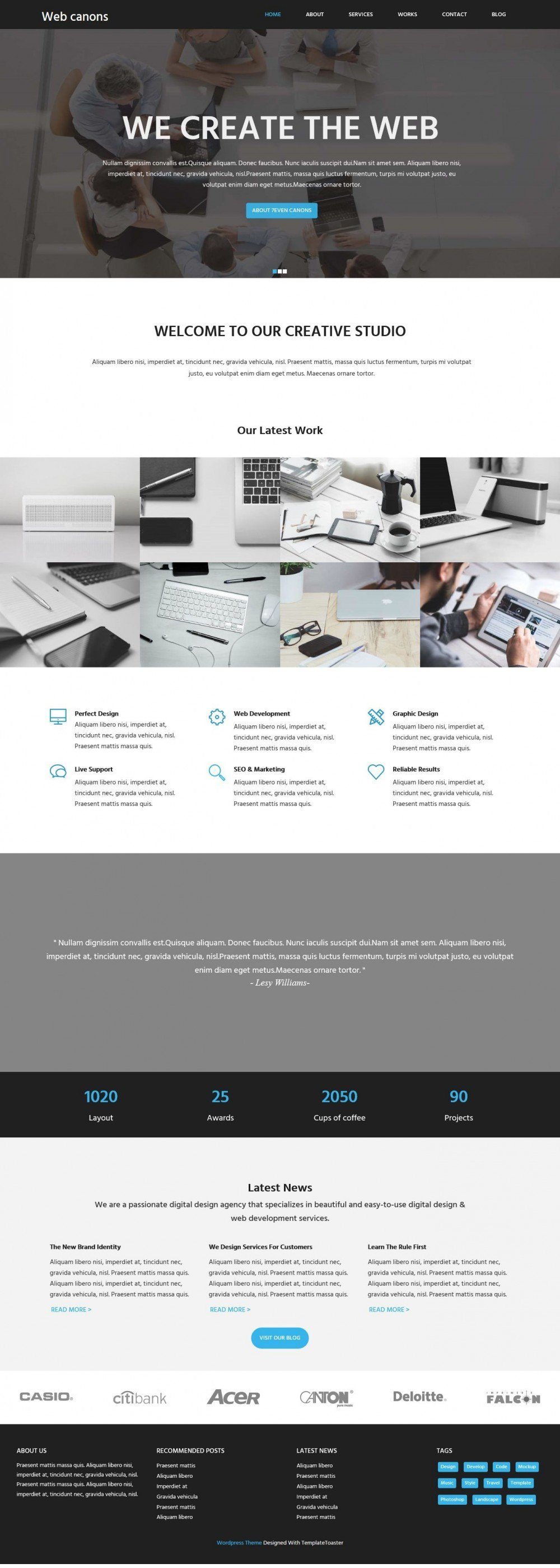 Web Canons Corporate Web Agency Studio HTML Template