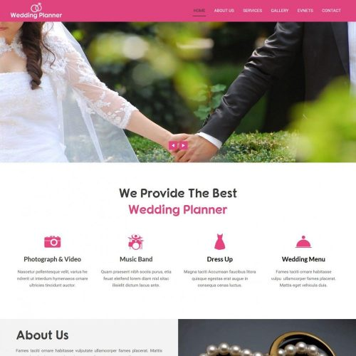 Wedding Planner and Wedding Organizer HTML Template