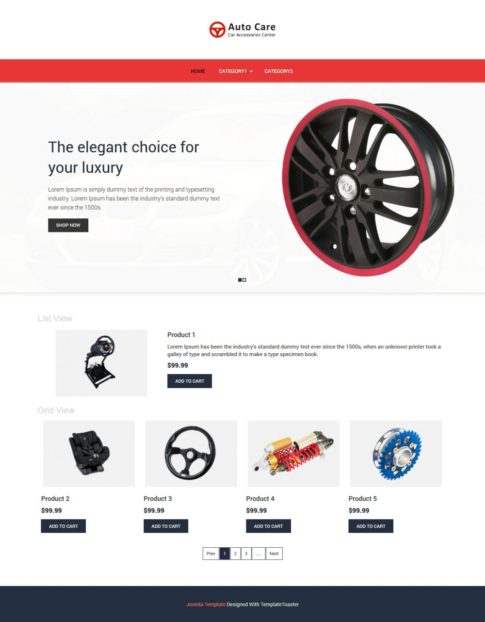 auto care automobile accessories virtuemart template