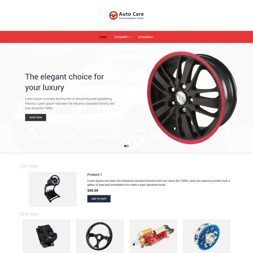 auto care automobile accessories virtuemart template