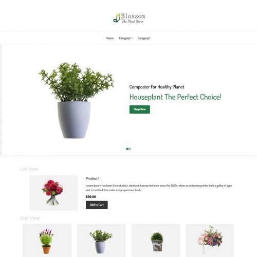 blossom plant store virtuemart template