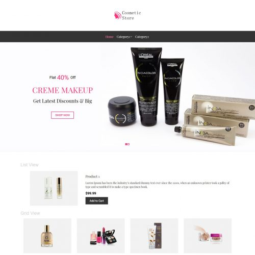 Cosmetic Store Virtuemart Template