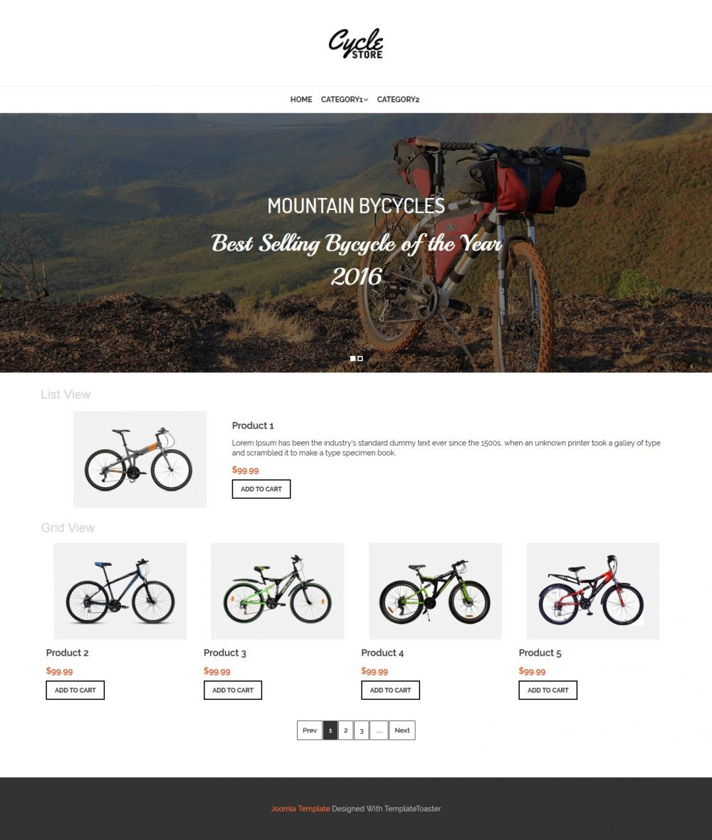 cycle store virtuemart template