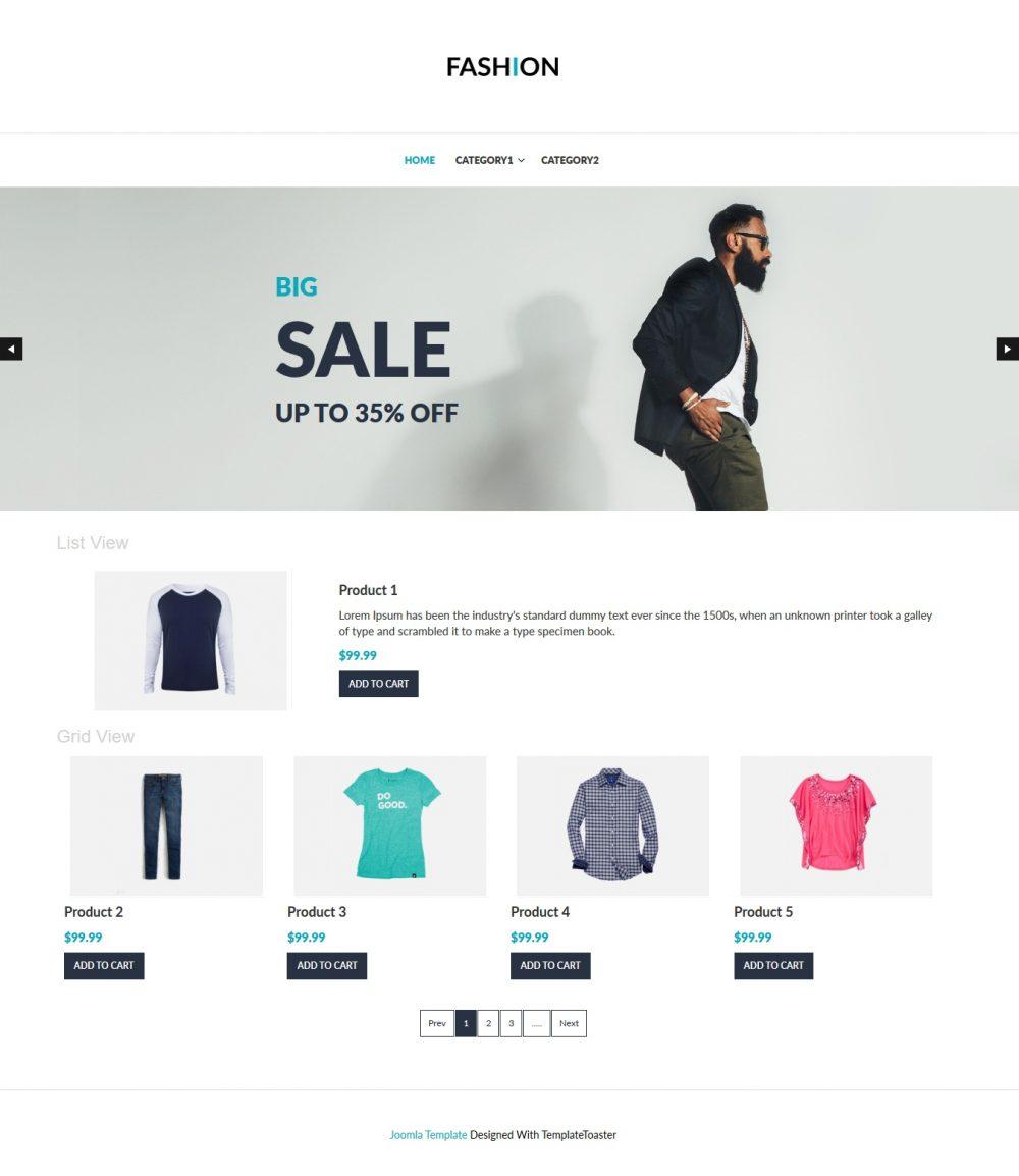 fashion clothing shop virtuemart template