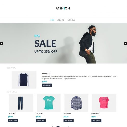 fashion clothing shop virtuemart template