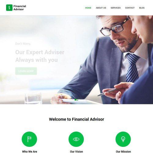 financial advisor blogger template