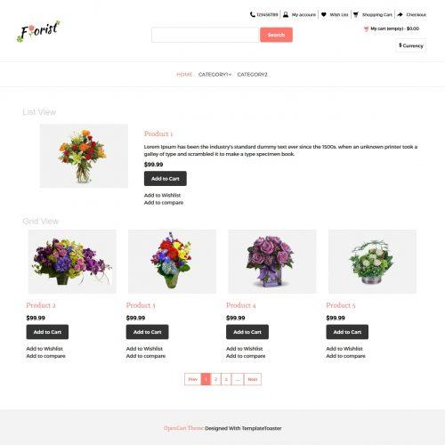 Flower Shop Opencart Theme