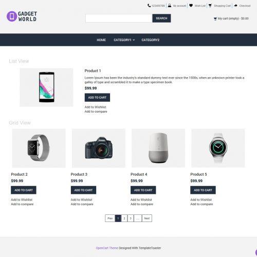 Gadget Shop Opencart Theme