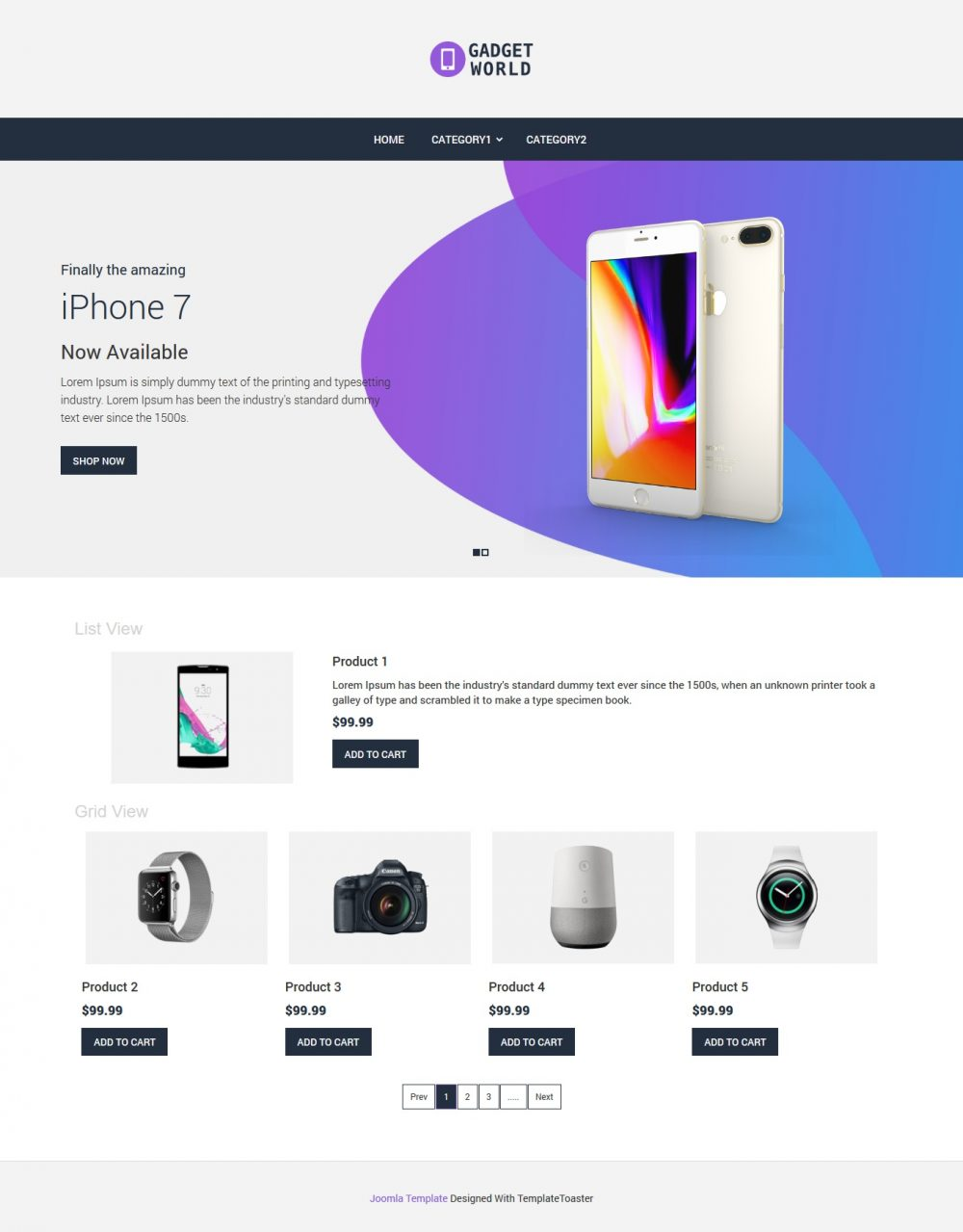 Gadget Shop Virtuemart Template