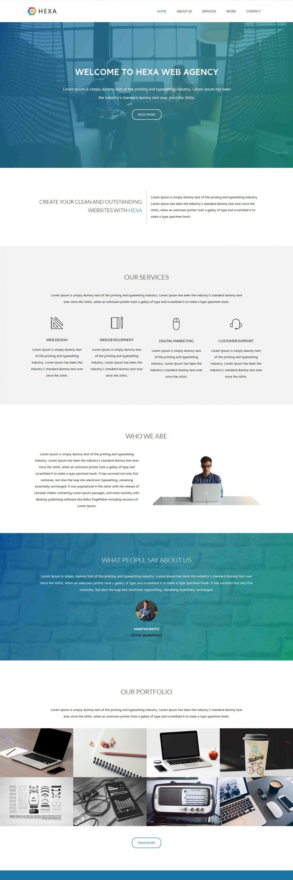 hexa web agency blogger template