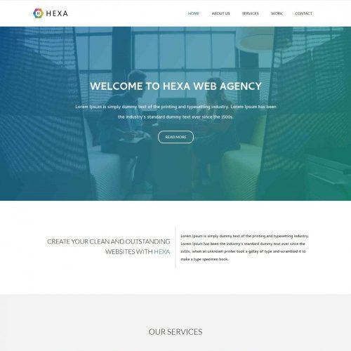 hexa web agency blogger template