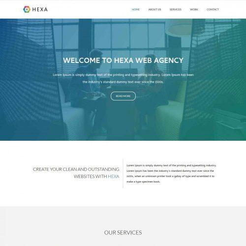 hexa web agency drupal theme
