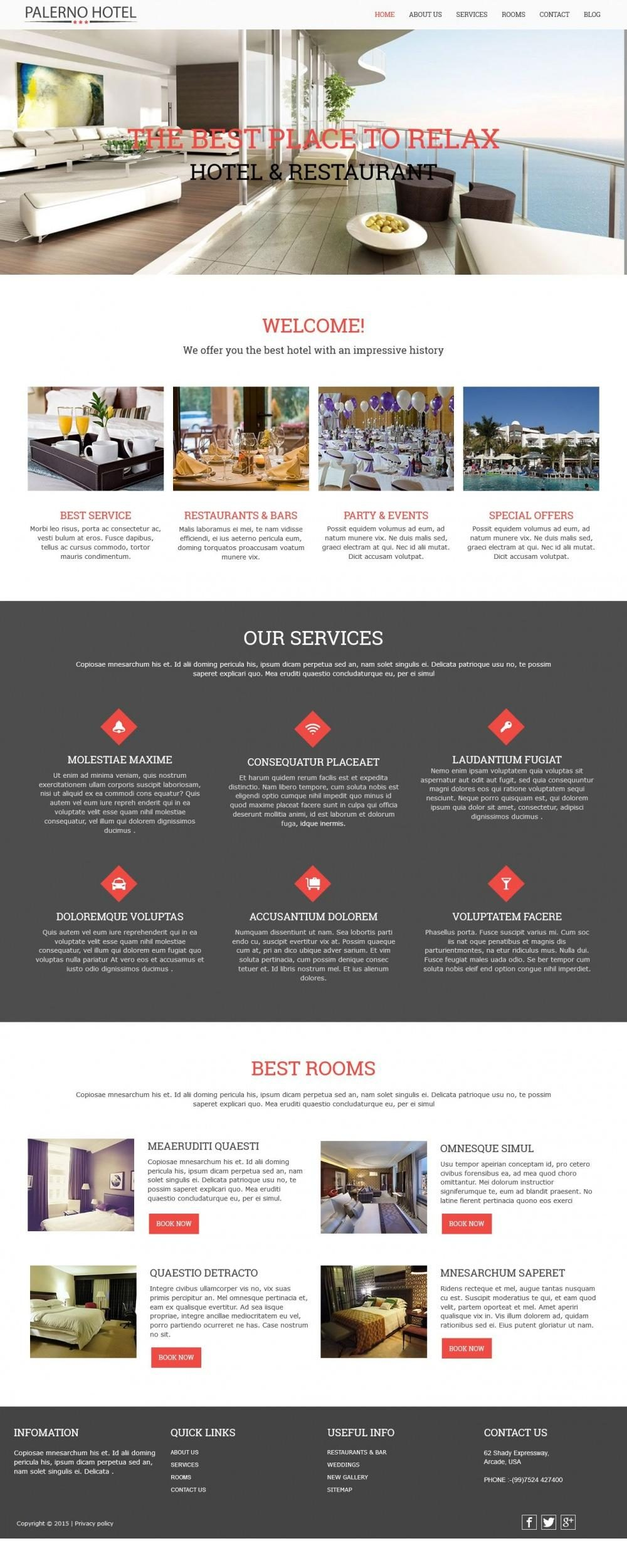 hotel palerno restaurant blogger template