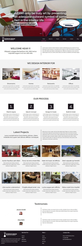 interior designing blogger template