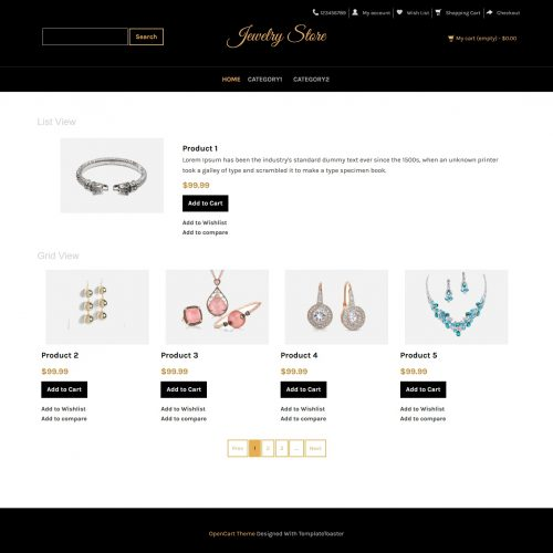 Jewellery Store Opencart Theme