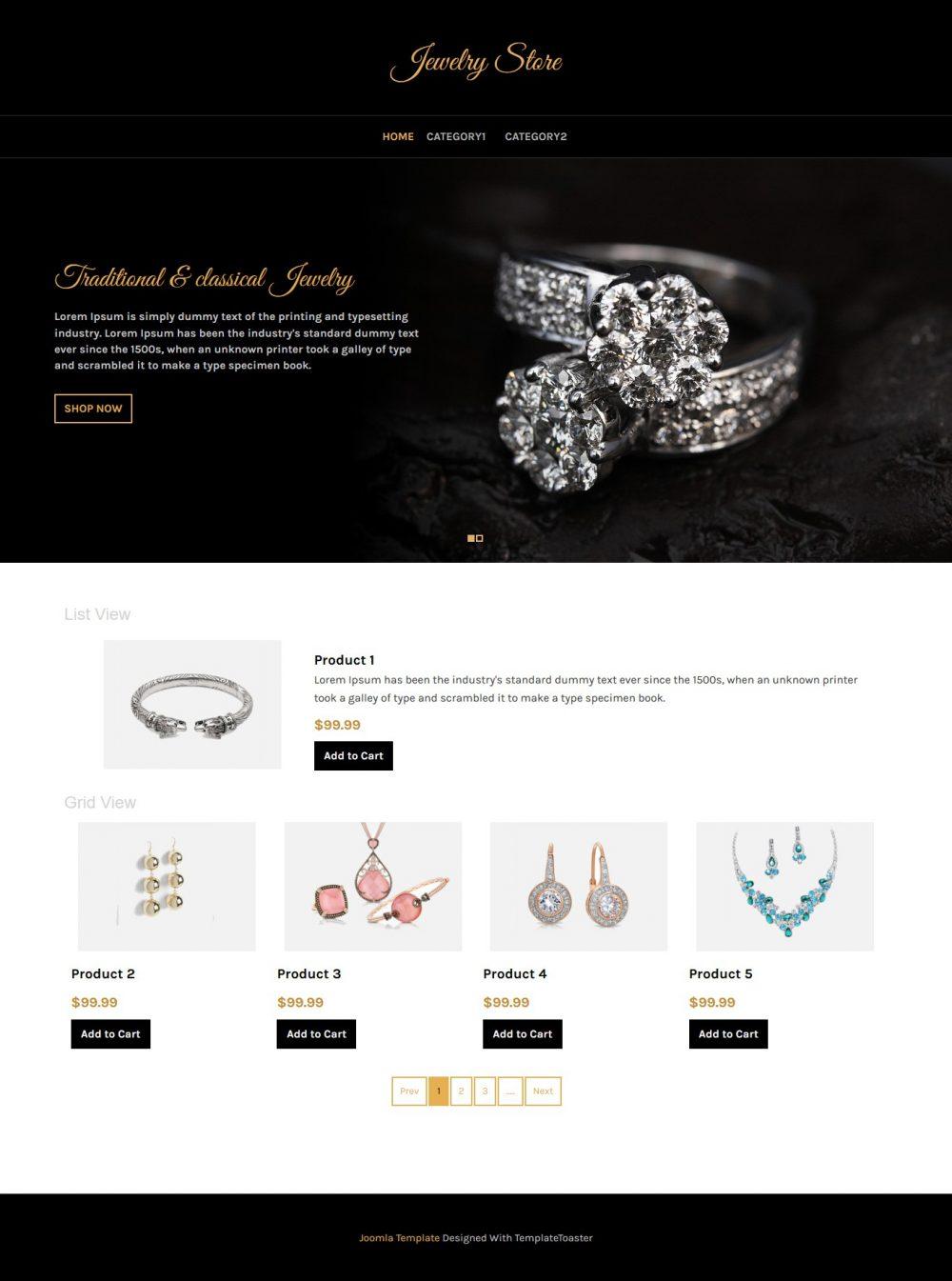 jewellery store virtuemart template