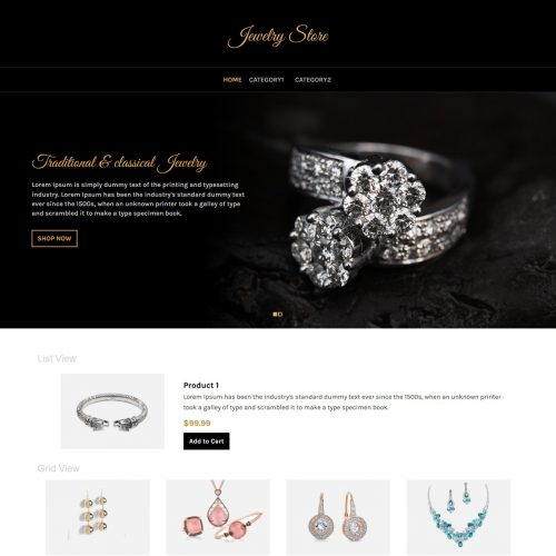 jewellery store virtuemart template