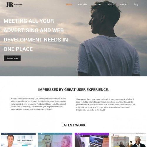 jr creation-web designer portfolio html template